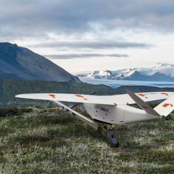 The Delair DT26X lidar drone combines lidar sensing with RGB camera data to enable highly accurate and high-resolution 3D representation and measurement over large areas with minimal flights and in challenging environments. (Photo: Delair)