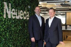 Duncan Guthrie (left) of 1Spatial and Peter Russell of Neueda. (Photo: 1Spatial)