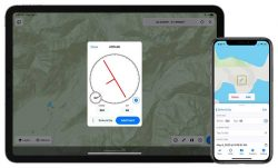 The new digital clinometer and attitude attribute type available in Touch GIS. (Image: TouchGIS)