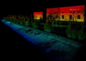 Point cloud from aboard an Apache6 USV mapping a water channel. (Image: CHC Navigation)
